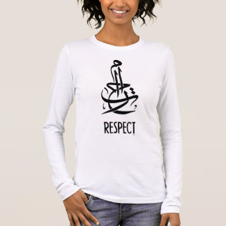 Respect (Arabic Calligraphy and English) Long Sleeve T-Shirt