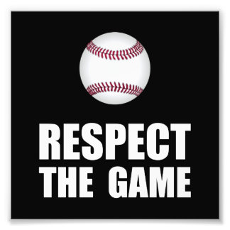 Respect Baseball Photographic Print
