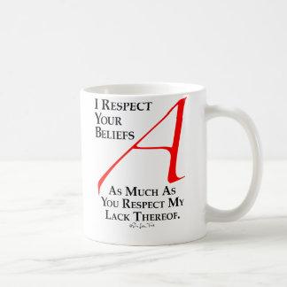 Respect Beliefs Basic White Mug