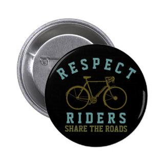 respect bike riders pin