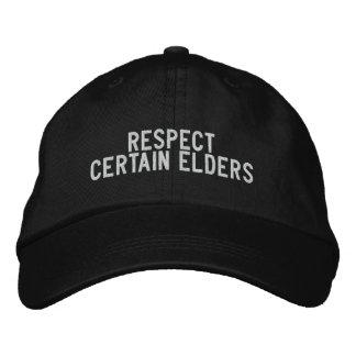 respect certain elders baseball cap