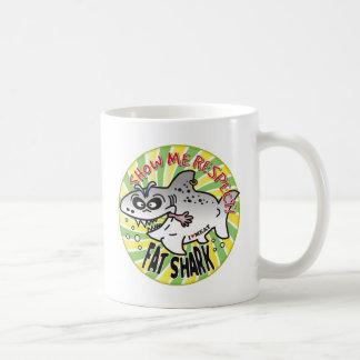 Respect Fat Shark Coffee Mugs