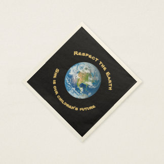 Respect Future of Planet Earth Paper Napkins Disposable Napkin