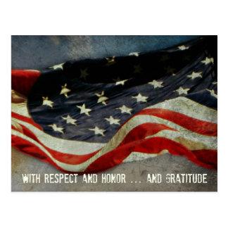 Respect, Honour and Gratitude Veterans Day Postcard