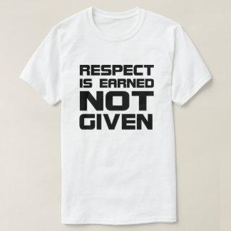 Respect is Earned Basic T-shirt