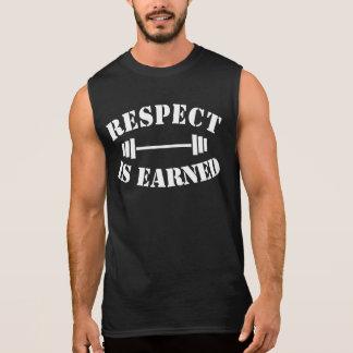 Respect Is Earned Cool Motivational Gym Sleeveless Shirt