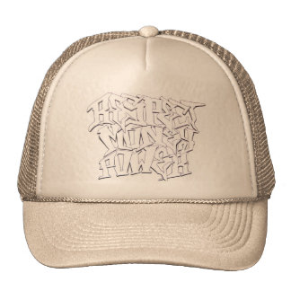 Respect money power tan trucker style hat