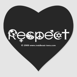 Respect Mother Earth - Recycle Save The Planet Heart Sticker