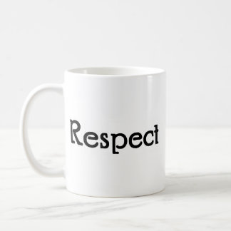 Respect Classic White Coffee Mug