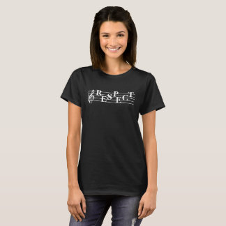 """Respect"" Music Measure Design Women's T-Shirt"