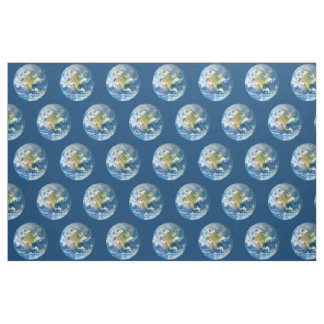 Respect Planet Earth Blue Fabric