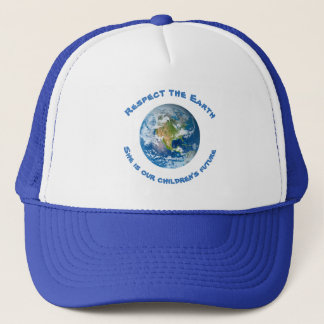 Respect Planet Earth Childrens Future Hat
