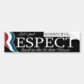Respect Romney/Ryan 2012 Bumper Sticker