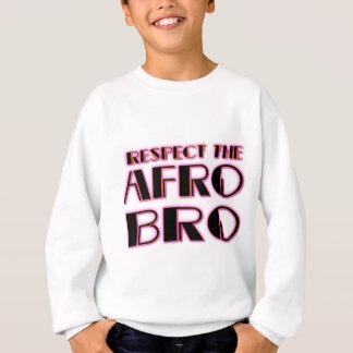 RESPECT THE AFRO Bro- PNK BLK Sweatshirt