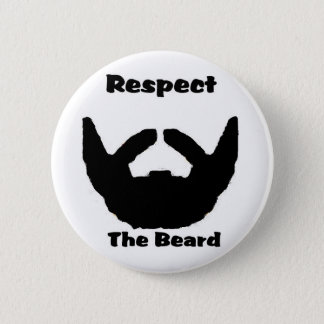 respect the beard 6 cm round badge