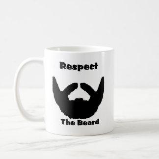 respect the beard basic white mug