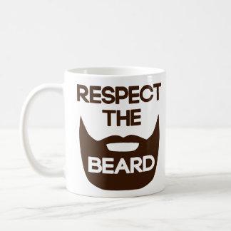 Respect The Beard Classic White Coffee Mug