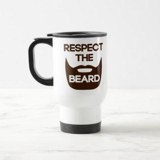 Respect The Beard Travel Mug