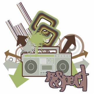 Respect the Beat Boom Box Acrylic Cut Out
