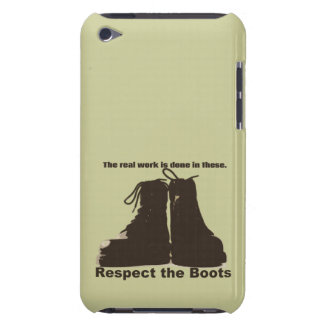 Respect the Boots: What REAL workers wear! iPod Touch Cases