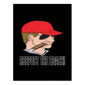 Respect The Coach Postcard
