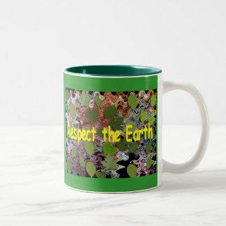 Respect the Earth Two-Tone Mug