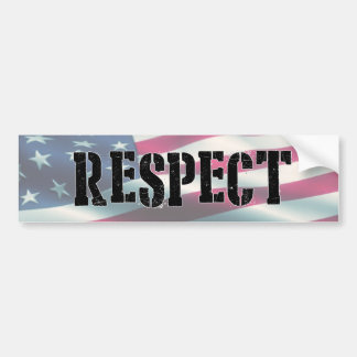 Respect the Flag, Stand for the National Anthem Bumper Sticker