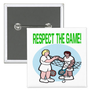 Respect The Game 15 Cm Square Badge
