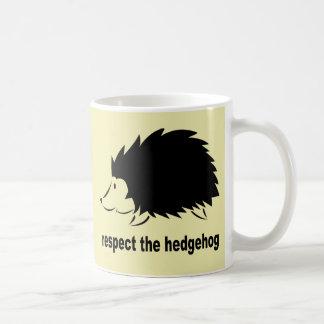 Respect The Hedgehog Classic White Coffee Mug