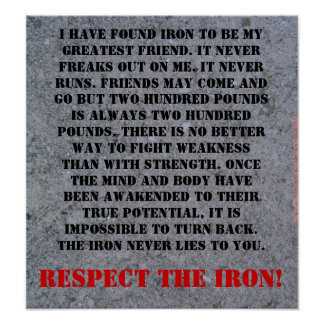 Respect The Iron Print