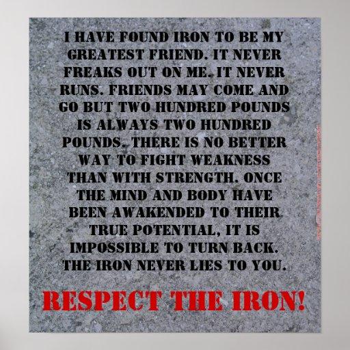 Respect The Iron Print