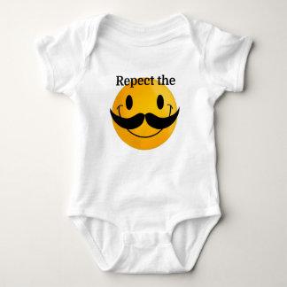 Respect the Moustache Baby Bodysuit