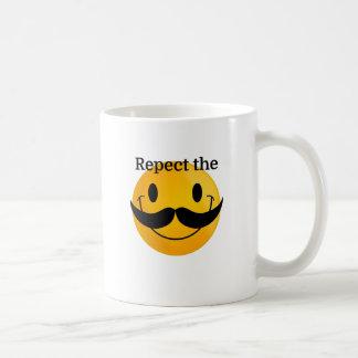 Respect the Moustache Basic White Mug