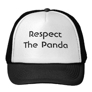 Respect The Panda Mesh Hats
