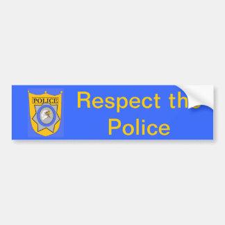 Respect the Police Bumper Sticker