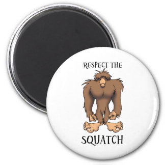 RESPECT THE SQUATCH 6 CM ROUND MAGNET