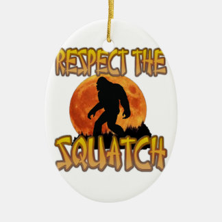 Respect The Squatch Ceramic Ornament