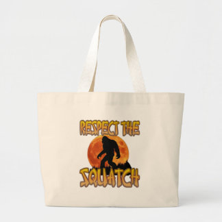 Respect The Squatch Large Tote Bag