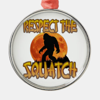 Respect The Squatch Metal Ornament