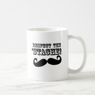 Respect the 'Stache Classic White Coffee Mug