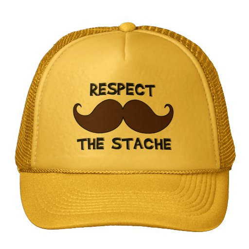Respect the Stache Mustache Moustache Trucker Hat