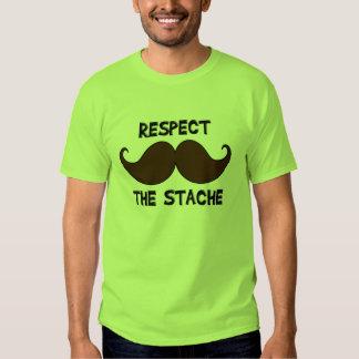 Respect the Stache Mustache Moustache Shirt