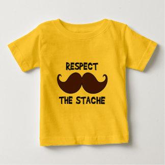 Respect the Stache Mustache Moustache Tee Shirts