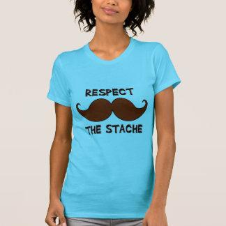 Respect the Stache Mustache Moustache Tees