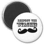 Respect the 'Stache Refrigerator Magnet