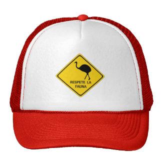 Respect Wildlife, Traffic Sign, Argentina Hats