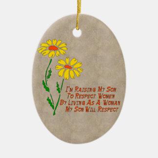 Respect Women Ceramic Oval Decoration