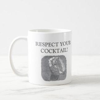 Respect Your Cocktail! Basic White Mug