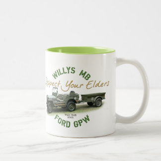 Respect Your Elders Two-Tone Coffee Mug