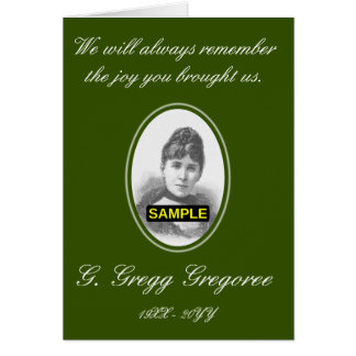 Respectable, Elegant Funeral Card + Custom Photo